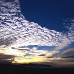 夕焼け空とうろこ雲